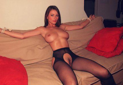 Kyla Cole Tied To A Sofa