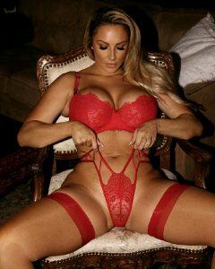Red Hit Lingerie For A Red Hot Bimbo